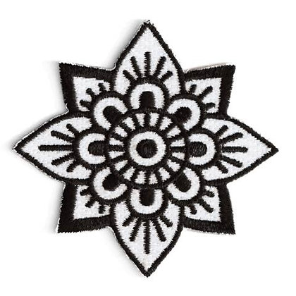 MANDALA FLOWER EMBROIDERED IRON-ON PATCH