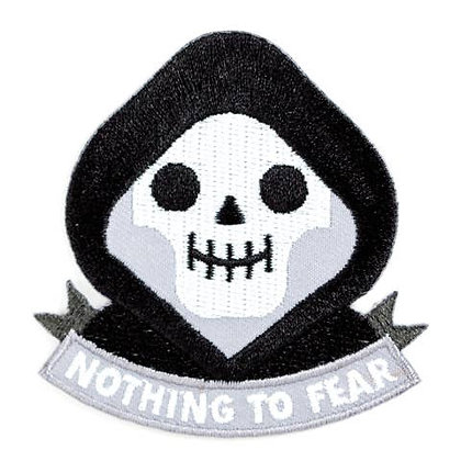 GRIM REAPER EMBROIDERED IRON-ON PATCH