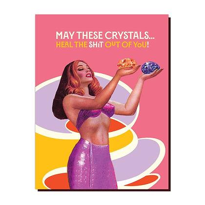 CRYSTAL HEAL GREETING CARD