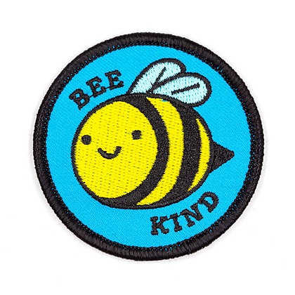 BEE KIND EMBROIDERED IRON-ON PATCH