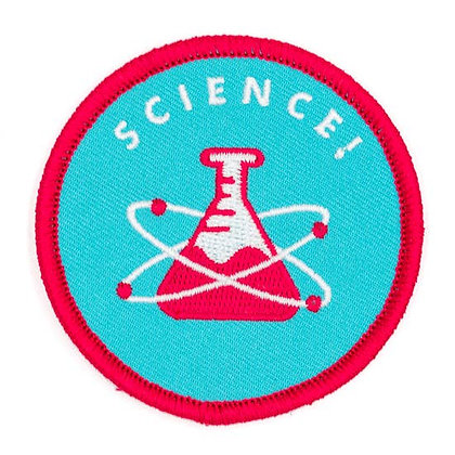SCIENCE EMBROIDERED IRON ON PATCH