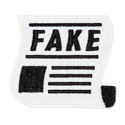 FAKE NEWS EMBROIDERED IRON-ON PATCH