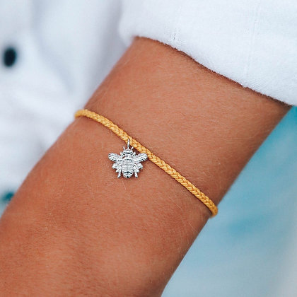 SAVE THE BEES CHARM BRACELET