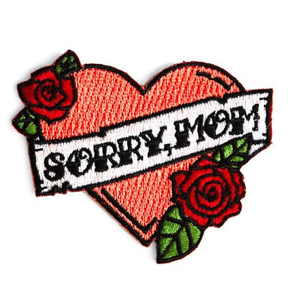 SORRY MOM EMBROIDERED PATCH