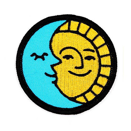 SUN AND MOON EMBROIDERED IRON-ON PATCH
