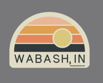 WABASH IN SUNSET RAINBOW STICKER
