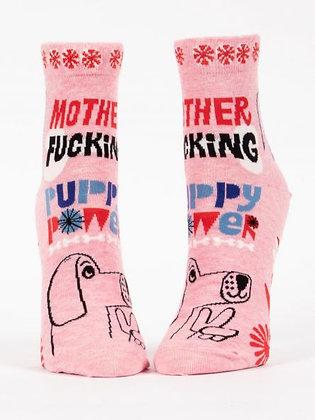 MOTHER F****** PUPPY POWER WOMEN'S ANKLE SOCKS