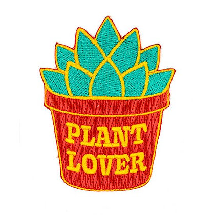 PLANT LOVER EMBROIDERED IRON-ON PATCH