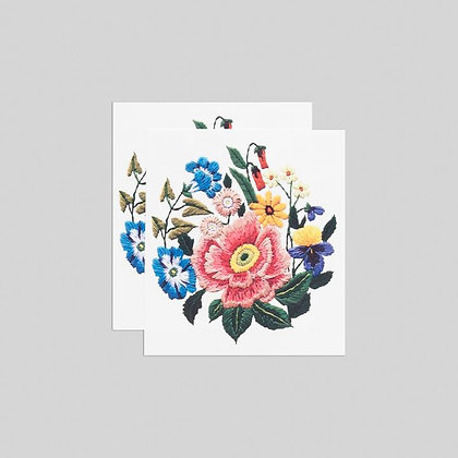STITCHED BOUQUET TATTOO SET OF TWO