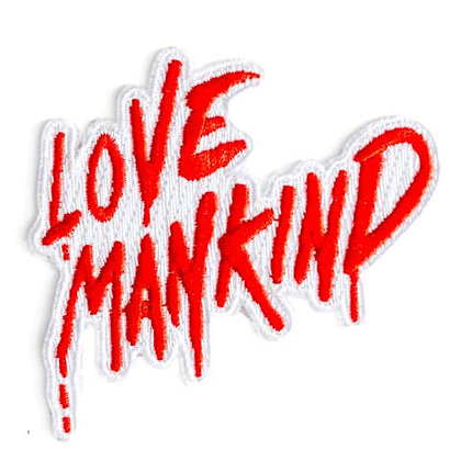 LOVE MANKIND EMBROIDERED IRON-ON PATCH