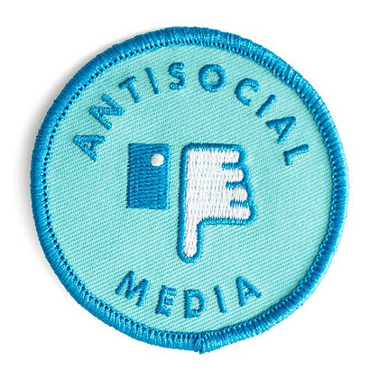 ANTISOCIAL MEDIA EMBROIDERED IRON-ON PATCH