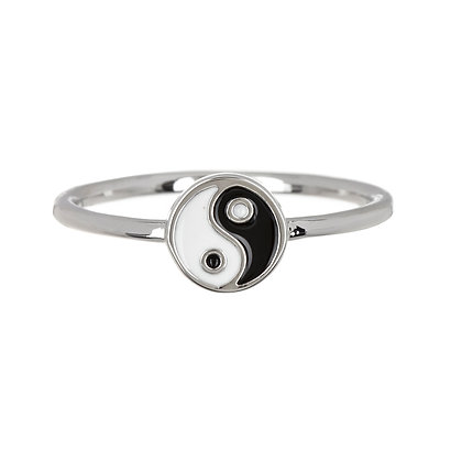YIN YANG RING IN SILVER