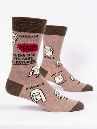 THERE ARE ASSHOLES EVERYWHERE MEN'S SOCKS