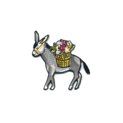 DONKEY EMBROIDERED PATCH