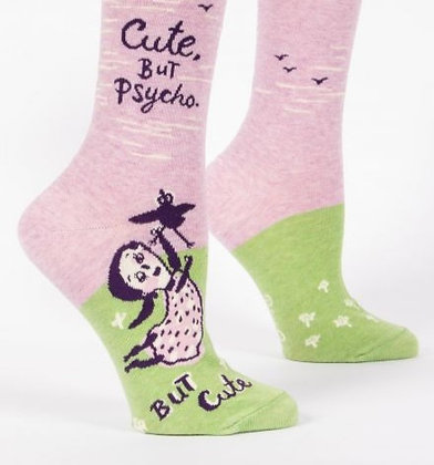 CUTE, BUT PSYCHO. BUT CUTE WOMEN'S CREW SOCKS