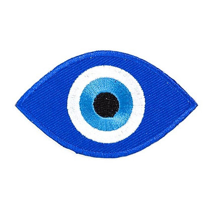 EVIL EYE EMBROIDERED IRON-ON PATCH