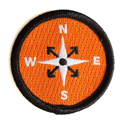 COMPASS EMBROIDERED IRON-ON PATCH