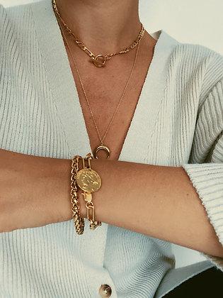 Gold Double Chain Bracelets