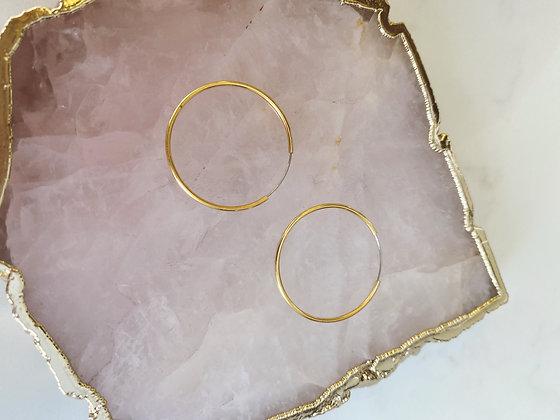 Gold Skinny Hoops