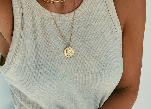 Gold Layered Chunky Chain & Coin Necklaces