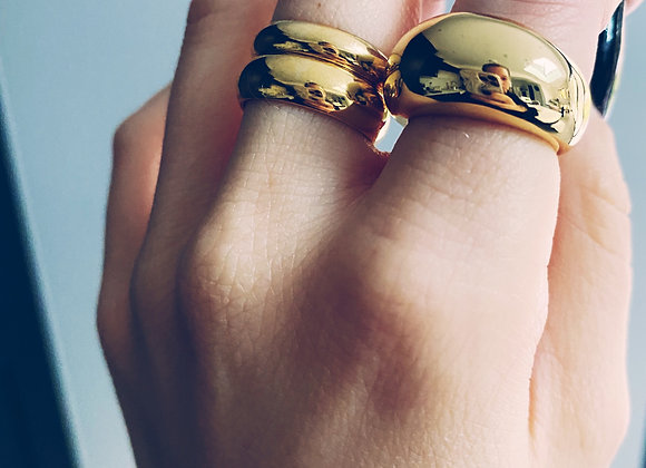 Gold Double Band Rings
