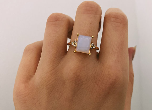 Gold Plated Moonstone Ring
