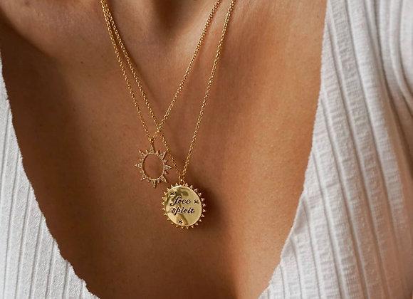 Gold Sunrise Necklace