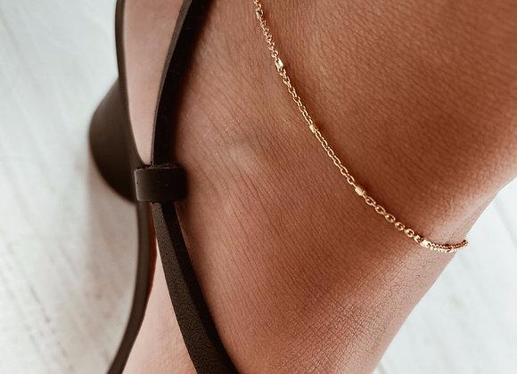 Gold Bobble Anklet