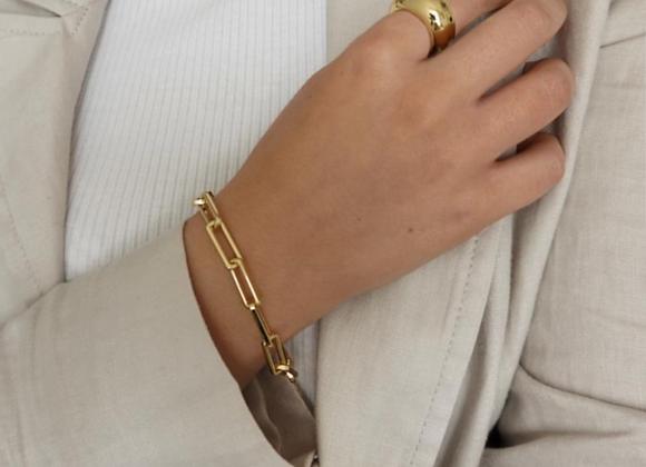 Gold Brass Chunky Chain Bracelet