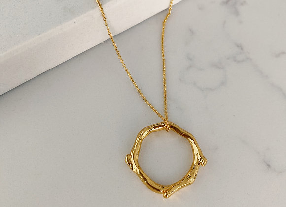 Gold Organic Ring Necklace