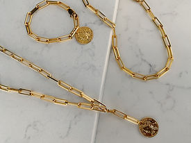18k gold plated chunky bracelets chains
