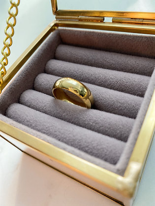 Gold Minimal Band Ring