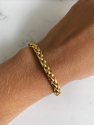 Gold Braided Cord Chain Bracelet