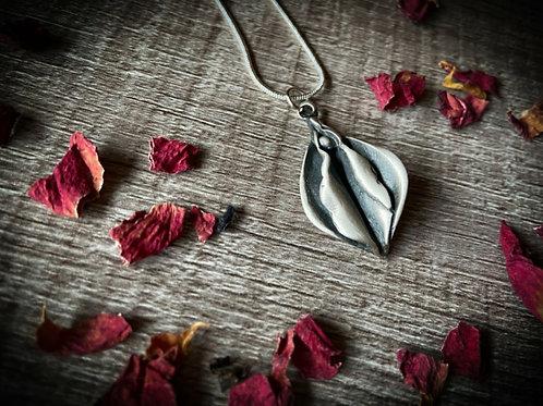 Medium Silver Flower Necklace