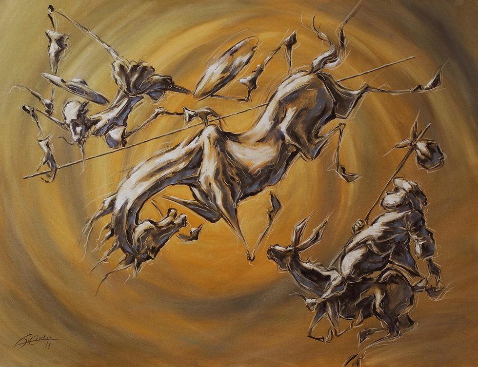 L'AIR ET LA TERRE- huile sur toile - 116 x 89 - 6250 €