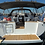 Hanse 415 stern view bareboat monohull yacht for great sailing vacations in Greece with family and friends
