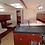 Hanse 415 salon view skippered monohull sailboat for yacht charters to Santorini
