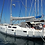 Hanse 415 side view monohull sailing yacht for bareboat yacht charters in Greece