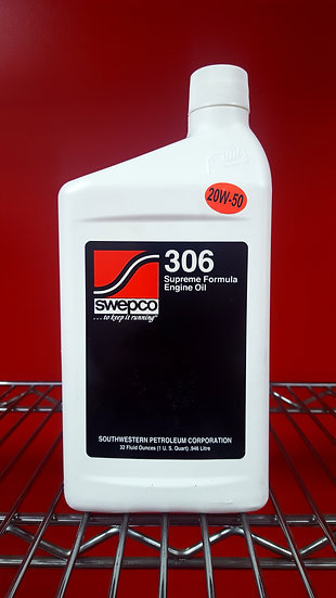 Swepco 306 Supreme Formula Engine Oil 20W50 1 U.S.Quart
