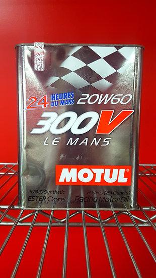 Motul Racing Motor Oil 300V Le Mans 100% Synthetic 20W60 2.1 Quarts