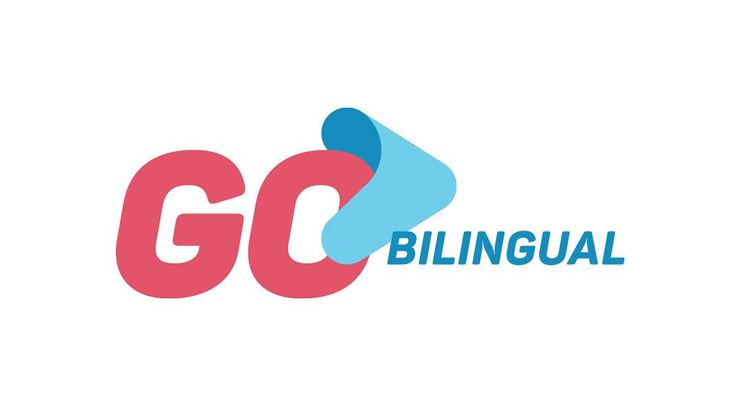 Go Bilingual Logo horizontal colorida