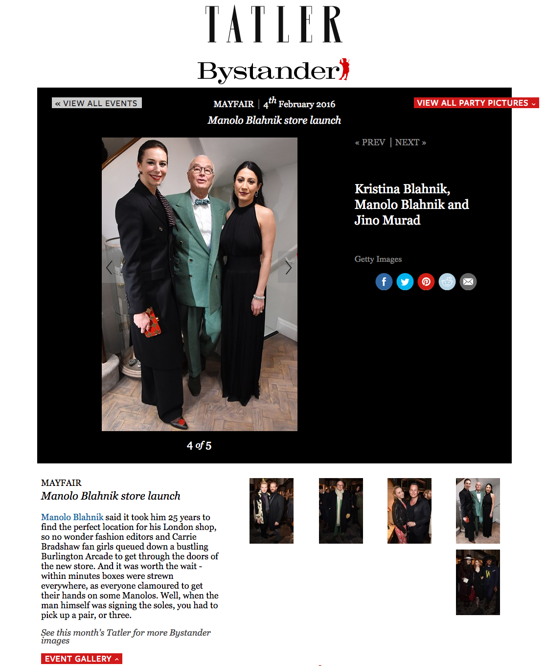 Manolo Blahnik Store Launch