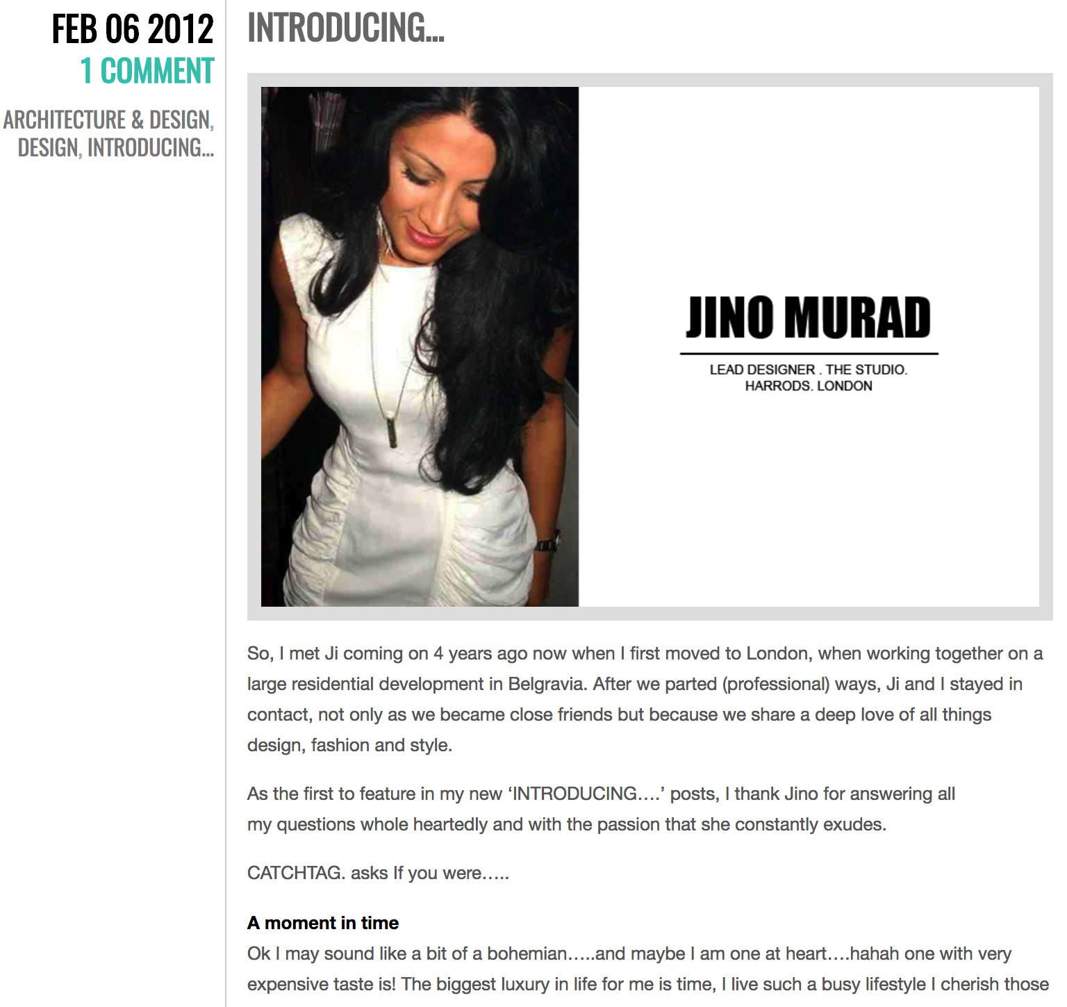 Introducing Jino Murad