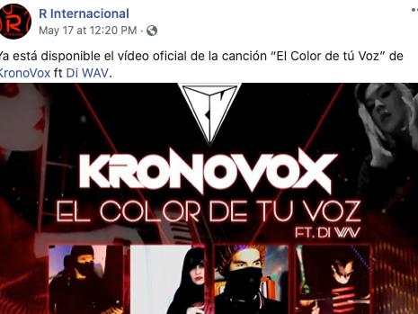 """""""El Color de Tu Voz"""" en R INTERNACIONAL"""