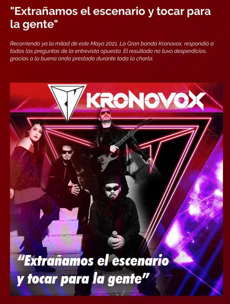 KronoVox en Polos Opuestos (Argentina)