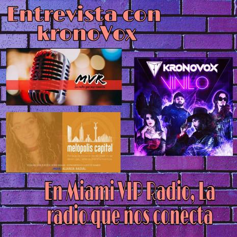 KronoVox sonando en Miami VIP Radio