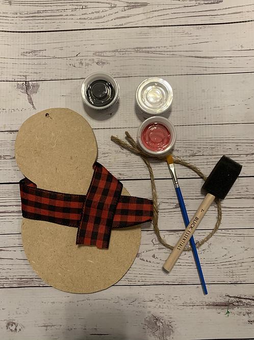 Snowman Ornent Paint kit