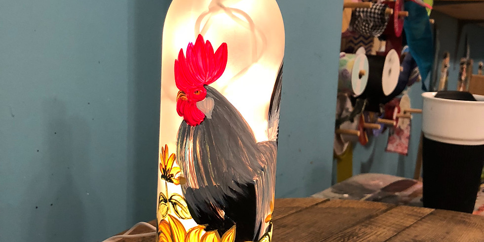 Rooster Luminary Wine Bottle