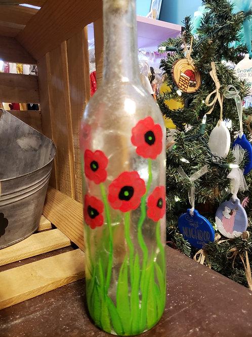 Poppy Wine bottle Paint Kit