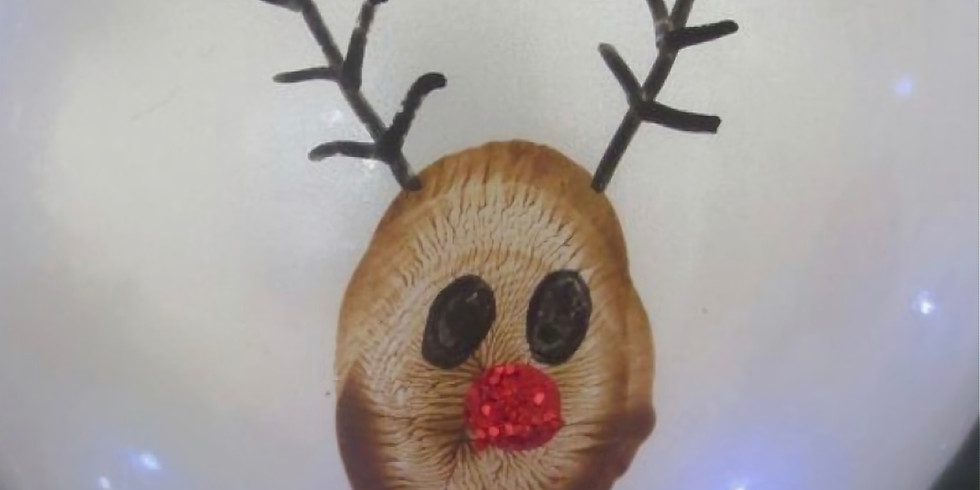 Christmas Spectacular Ornament Finger Painting
